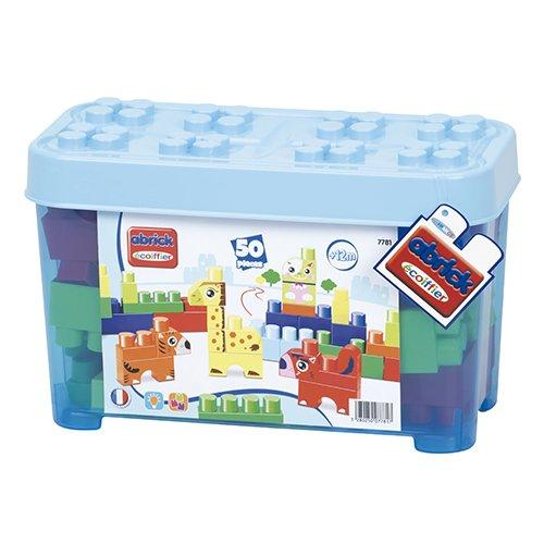 ecoiffier-7781-jeu-de-construction-baril-animaux-maxi-abrick-bleu