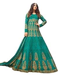 Desinger Georgette Green Color Embroidered Anarkali Suit