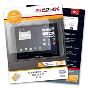atFoliX Displayschutzfolie Archos 80 G9 (2 Stück) - FX-Antireflex, antireflektierende Premium Schutzfolie