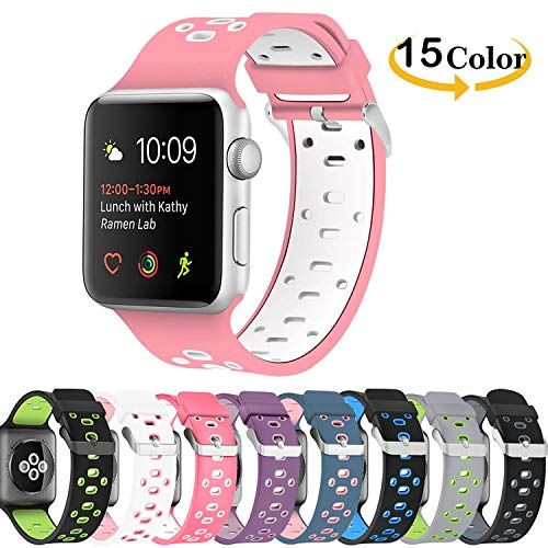 b5d6da6be Chok Idea Band Compatible with Apple Watch Correa 38mm 40mm,Silicona  Two-Tone Style