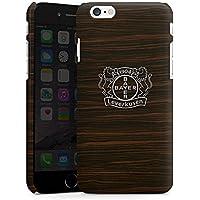 Apple iPhone 6s Hülle Premium Case Cover Bayer 04 Leverkusen Fanartikel Holz Look
