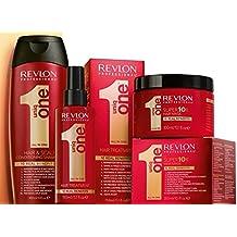 Revlon Uniq One Champu 300 ml, Mascarilla 300 ml, Tratamiento Capilar 150 ml - 1 Pack