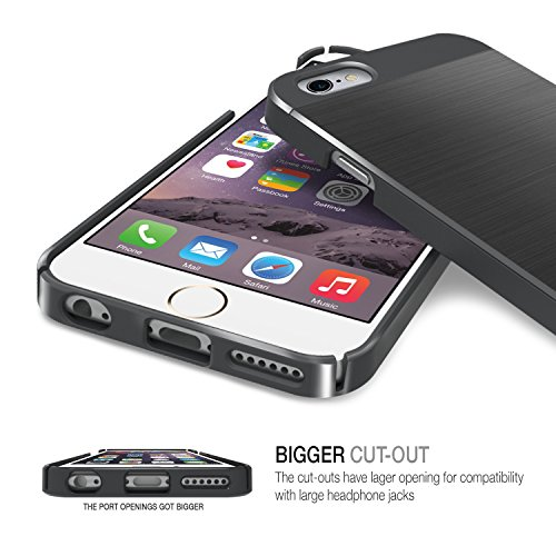 Obliq OBIP6PL-SMETA03 Slim Meta Case für Apple iPhone 6 Plus/6S Plus gold Meta Champagne Gold