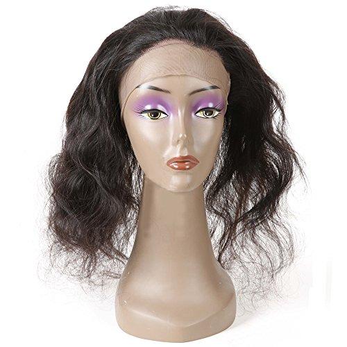 360 Lace Frontal Closure Cheveux brésiliens bruns Body Wave 100% Natural Hairline Fermeture frontale en dentelle pour femmes Couleur naturelle (1 pièce, 12 pouces)