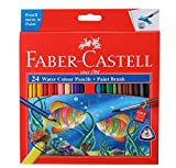 #7: Faber-Castell Water Color Pencils with Paint Brush - Pack of 24 (Assorted)