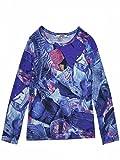 Junior Gaultier–T. Shirt bedruckt blau Langarm ADO Mädchen Junior Gaultier Gr. 16 Jahre, Blau - Blau