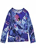 Junior Gaultier T. Shirt Bedruckt blau Langarm ADO Mädchen Gr. 16 Jahre, Bedruckt