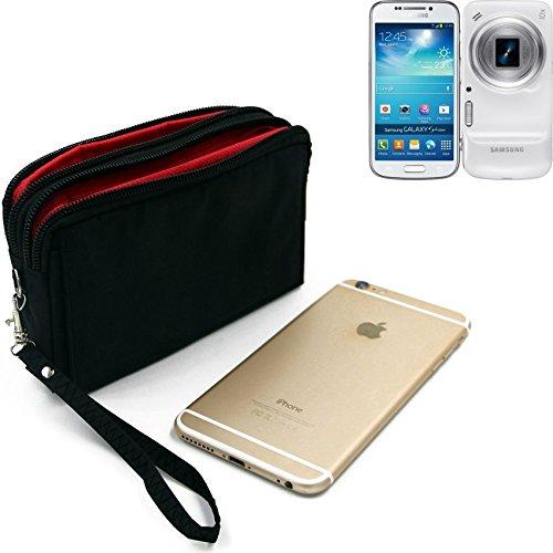K-S-Trade Für Samsung Galaxy S4 Zoom Gürteltasche schwarz Travel Bag, Travel-Case mit Diebstahlschutz praktische Schutz-Hülle Schutz Tasche Outdoor-case für Samsung Galaxy S4 Zoom