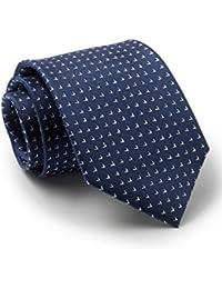 Savile Row Men's Navy White Arrow Silk Tie