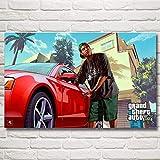 baodanla Kein Rahmen Grand Theft Auto V GTA 5 Spiel Poste und Drucke Kunst Seide NGS Wanddekor Schlafzimmer Dekoration Bild Living40x60cm