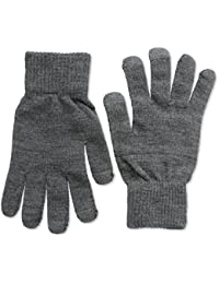 Selected Herren Handschuhe Leth plain glove H, Einfarbig