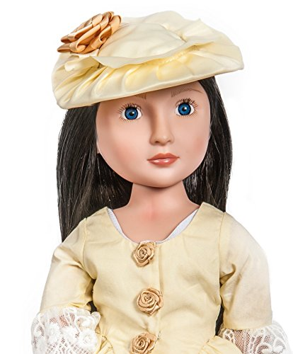 """A Girl For All Time """" Lydia """" Mädchen aus dem 19 Jahrhundert exquisite Sammlerpuppe mit einem Atemberaubendem Kleid"""
