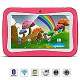 Tablet para Niños, QIMAOO, Tablet Infantil de 7 Pulgadas iWawa Software Pre-Instalado, Android 5.1, Lollipop Quad Core Tablet Externa 3G,8GB ROM, 1GB RAM, WiFi ,Bluetooth, Doble Cámara, Google Play