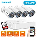 ANNKE 4 Channel HD 1080P SPOE Security Camera System - 1TB Hard Drive, 4x 960P Bullet Camera, IP67 Weatherproof , Power over Ethernet, Easy Remote Access