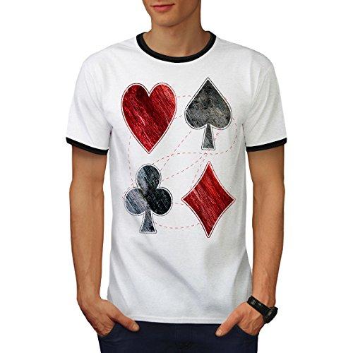 Herz Spaten Verein Kasino As Gestalten Herren M Ringer T-shirt | Wellcoda (Herz-ringer)