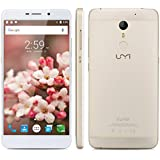 "UMI Super - 32GB Smartphone libre 4G LTE (Android 6.0, Pantalla 5.5"", 16GB ROM, 3GB RAM, Octa-Core, Cámara 13 Mp, 3D Lector de huellas dactilares, Resolución de 1920 x 1080, OTG, HiFi), Dorado"