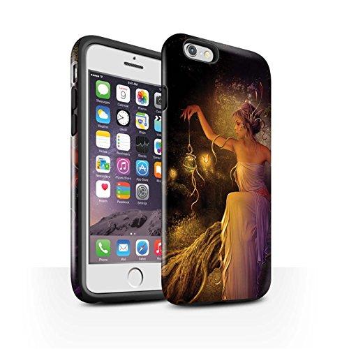 Officiel Elena Dudina Coque / Brillant Robuste Antichoc Etui pour Apple iPhone 6S / Poussière de Lutin Design / Un avec la Nature Collection Poussière de Lutin