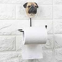 Jueven Creativity Metal Free Punch Roll Holder Lovely Animal Resin Toilet Paper Holder Kitchen Bathroom Tissue Box (Color : E)
