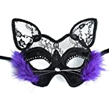 Kapmore Katzenmaske, Venetian Maskerade Maske Valentinstag Party Katzenmaske Cat Spitze Maske (cat)