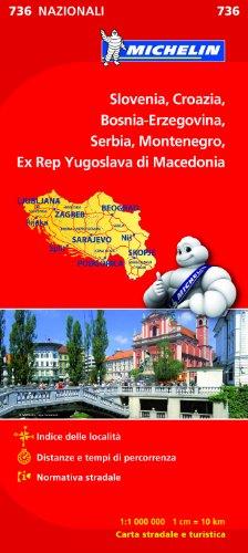 Slovenia, Croazia, Bosnia-Erzegovina, Serbia, Montenegro, Ex Rep Yugoslava di Macedonia 1:1 000 000