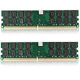 Coomir 2 Unidades 4GB DDR2 800MHZ PC2-6400 240 Pines Memoria RAM de Escritorio para la Placa Base AMD