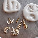 Einhorn 2 teilige Silikonform Zuckerkunst Kuchenfondant Kuchendekoration Backwerkzeug