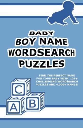 Baby Boy Name Wordsearch Puzzles