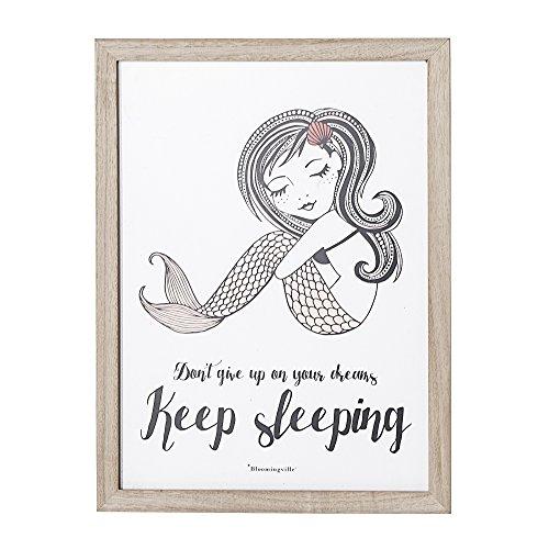 Preisvergleich Produktbild Bloomingville Bild mit Rahmen 'Keep sleeping'