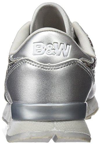 Break&Walk - Hv215434, Scarpe sportive Donna Argentato (Silver)