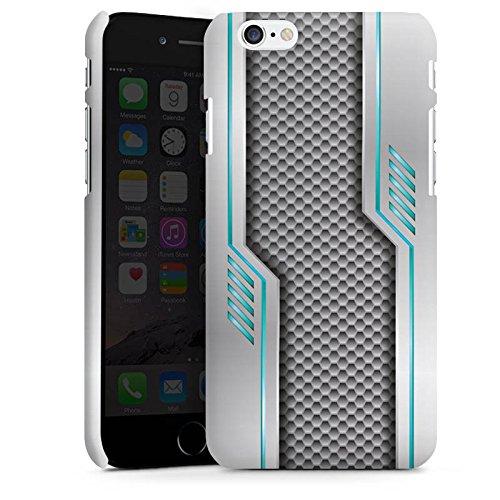 Apple iPhone X Silikon Hülle Case Schutzhülle Metall Carbon Zukunft Premium Case matt