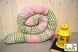 Bettrolle 200cm, Nestchenschlange, Lagerungskissen für Babybett Handmade in Germany, auch als Set mit Schmusetuch, Strampelsack oder Babydecke