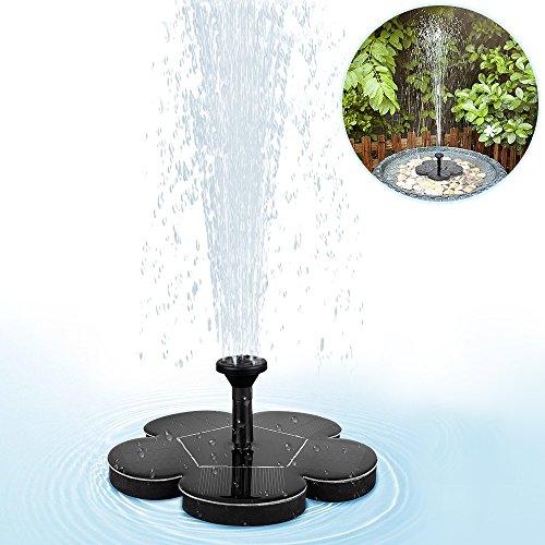 mixigoo Fontaine solaire, Pompe à Eau Solaire électrique Panneau solaire Pompe 1.5W...