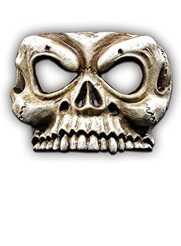 Skelettschädel Halloween Maske beige