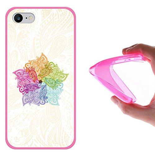 WoowCase Hülle Case für [ iPhone 7 ] Handy Cover Schutzhülle Gehirn, Musik und Wissenschaft Housse Gel iPhone 7 Rosa D0150