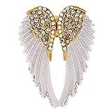 MagiDeal Glänzend Ring Strass Engelsflügel Damen Ring Engel Ring Flügel Frauen Geschenk Kristallschmuck
