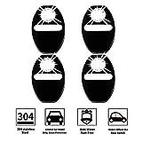 LFOTPP Skoda001 Edelstahl Auto Türschlossabdeckung Innenraum Schutz Zubehör Türverriegelung Abdeckung Schwarz