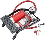 Draper redline 68473 - Bomba de pie de doble cilindro