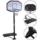 Costway Basketballständer Basketballkorb mit Ständer Basketballanlage Korbanlage höhenverstellbar von 200