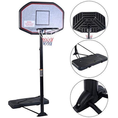 Basketballständer Mobiler Basketballkorb mit Ständer Basketballanlage Höhenverstellbar von 200 bis 305cm