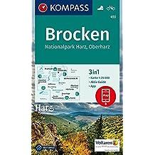 Brocken, Nationalpark Harz, Oberharz 1:25T: 3in1 Wanderkarte 1:25000 mit Aktiv Guide inklusive Karte zur offline Verwendung in der KOMPASS-App. Fahrradfahren. (KOMPASS-Wanderkarten, Band 455)