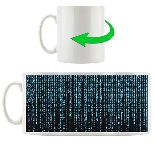Matrix-trinken (Matrix blau schwarz, Motivtasse aus weißem Keramik 300ml, Tolle Geschenkidee zu jedem Anlass. Ihr neuer Lieblingsbecher für Kaffe, Tee und Heißgetränke.)