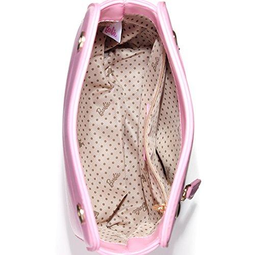 Barbie Borsa a tracolla e a mano dalla serie di Barbie WebCelebrity in PU da Donna Ragazza Bambina armaturato con catena#BBFB569 (kaki) Rosa
