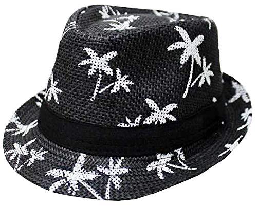 CLUB CUBANA Fedora Hüte Für Männer, Frauen, Unisex, Trilby Hut, Panama-Stil, für Sommer, Strand, Sonne, Jazz-Cap Schwarz (Hut Panama-frauen)