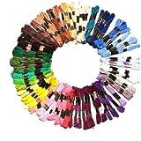 Surtido de Hilos de Bordar 100x8m Mezcla de Madejas de Colores de Kurtzy TM