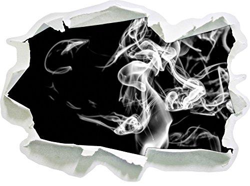 Stil.Zeit Monocrome, Dark Rauch in der Dunkelheit Papier im 3D-Look, Wand- oder Türaufkleber Format: 62x45cm, Wandsticker, Wandtattoo, Wanddekoration