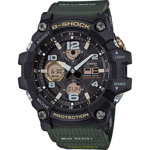 Casio orologio analogico-digitale quarzo uomo con cinturino in gomma gwg-100-1a3er