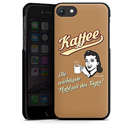 Apple iPhone X Silikon Hülle Case Schutzhülle Kaffee Statement Lustig Hard Case schwarz