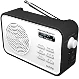 MoreAudio Desire DAB Digital FM Radio Alarm Clock - Rechargable Battery / Mains Powered - Black