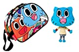 GUMBALL: Toiletries- merenda al sacco THE AMAZING WORLD OF GUMBALL PLACE + Peluche Gumball (Blu 258cm) immagine