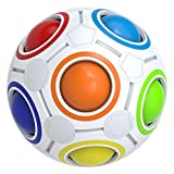 Magic Ball, Splaks Magisch Regenbogen Puzzle Zauber Ball Einfach Drehen, Super Langlebig für Gehirntraining Spiel Geburtstagsgeschenk für Kinder